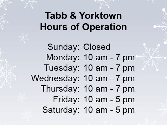 York County Public Library Hours of Operation