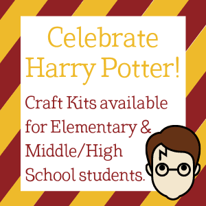 Harry Potter craft kits will be available at both libraries beginning May 3.