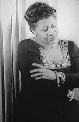 The image shows Ella Fitzgerald, who was described as the first lady of song and had a career that spanned 6 decades.