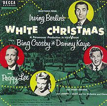 LP cover for White Christmas by Irving Berlin